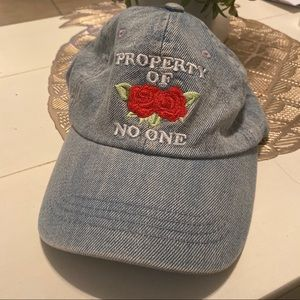 Forever21 | property of no one denim hat